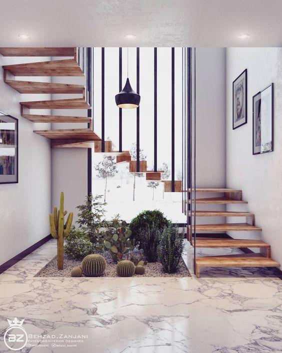 trang trí tiểu cảnh cầu thang