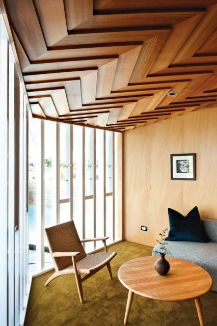 trang trí trần gỗ 4