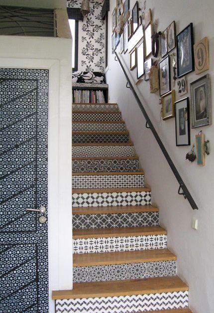trang trí tranh dọc cầu thang 3