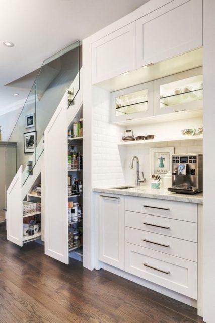 tủ bếp dưới cầu thang 8