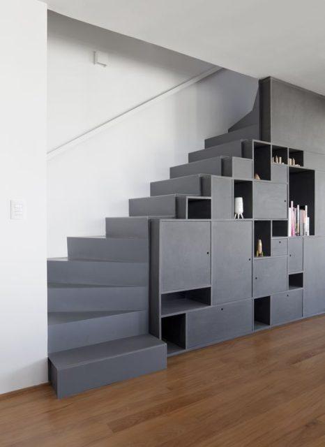 tủ gỗ gầm cầu thang đẹp 8
