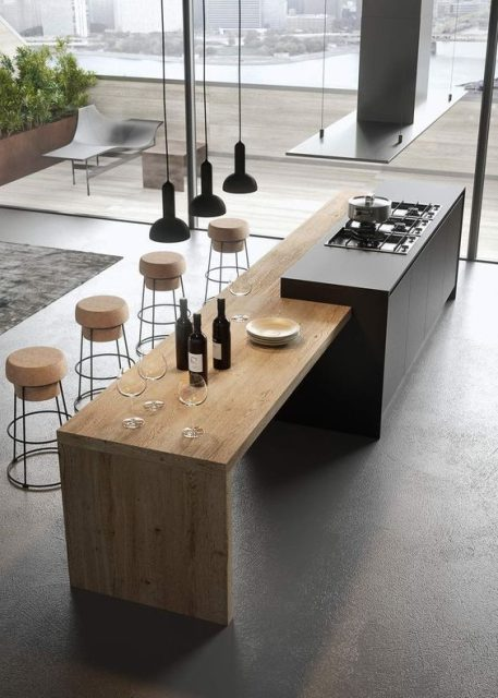 bàn đảo bếp hiện đại 7