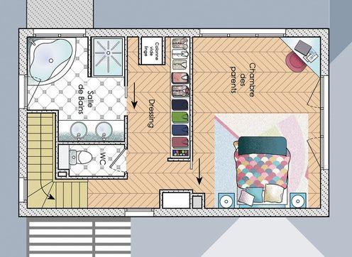 bản vẽ phòng ngủ có toilet 5