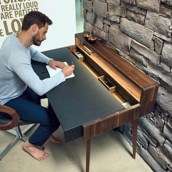mẫu bàn làm việc bẳng gỗ tự nhiên