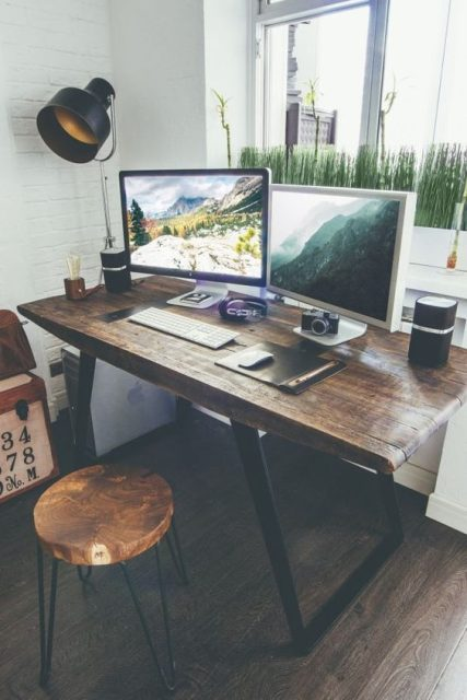 mẫu bàn làm việc bẳng gỗ tự nhiên 3
