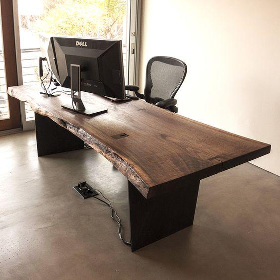 mẫu bàn làm việc bẳng gỗ tự nhiên 5