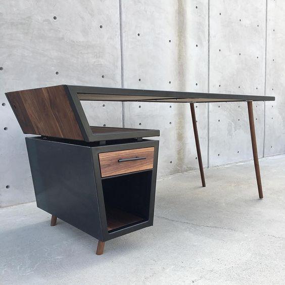 mẫu bàn làm việc bẳng gỗ tự nhiên 6