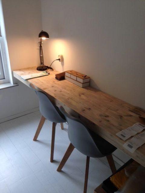 mẫu bàn làm việc gỗ tự nhiên đẹp 4