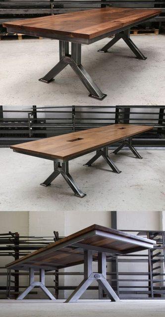 mẫu bàn làm việc gỗ tự nhiên đẹp 5