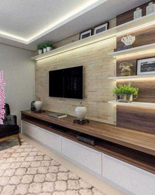 mẫu kệ tivi đẹp bằng gỗ 3