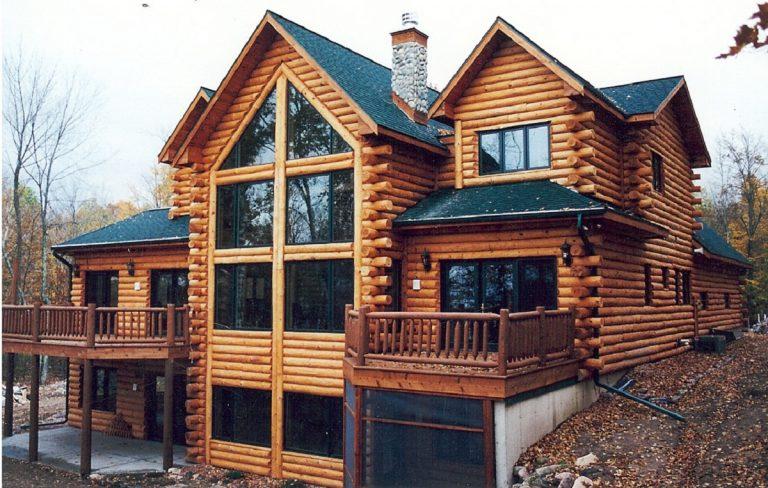 mẫu nhà gỗ 2 tầng đẹp 3