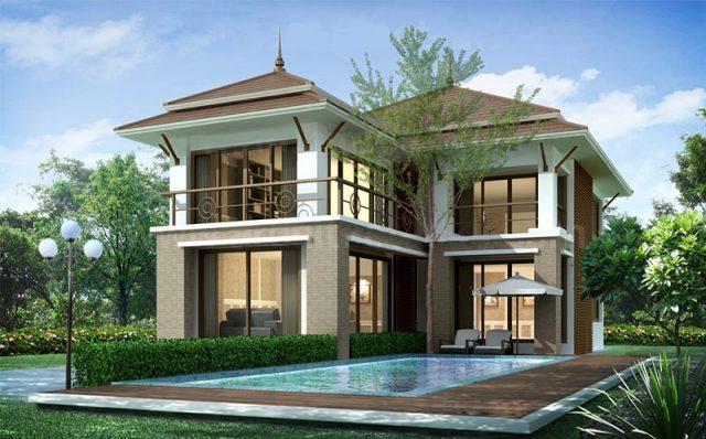 nhà 2 tầng chữ l đẹp 4