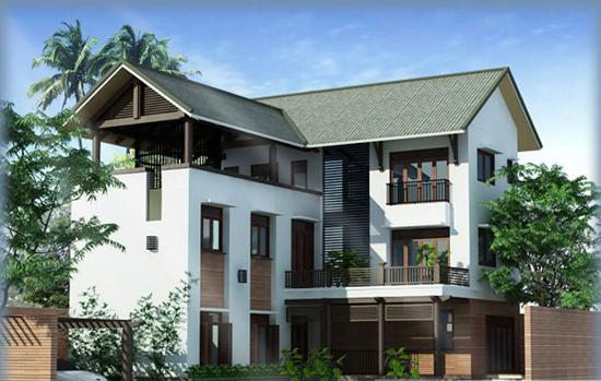 nhà 3 tầng chữ l đẹp 2