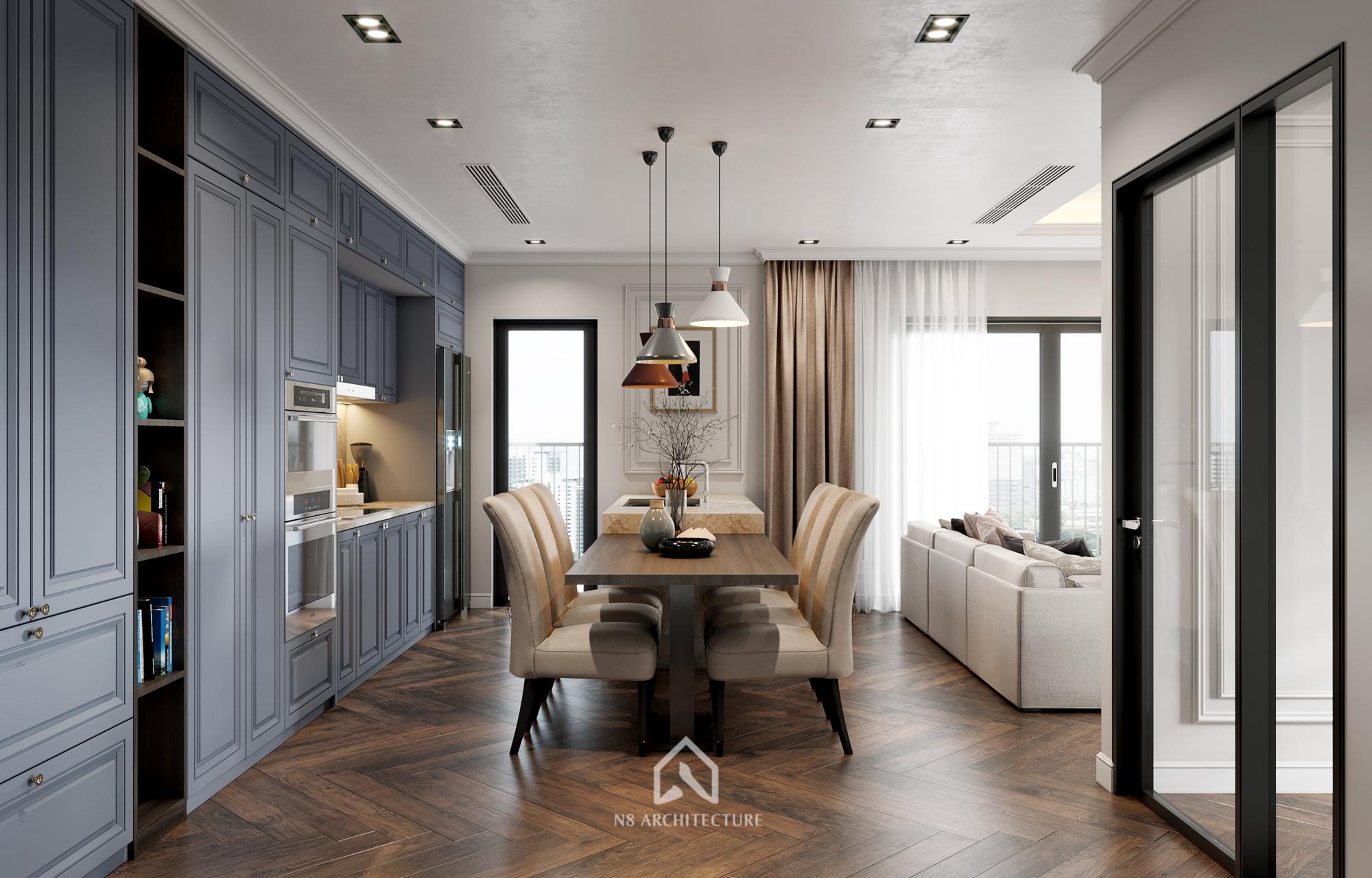 thiết kế nội thất chung cư kosmo 2