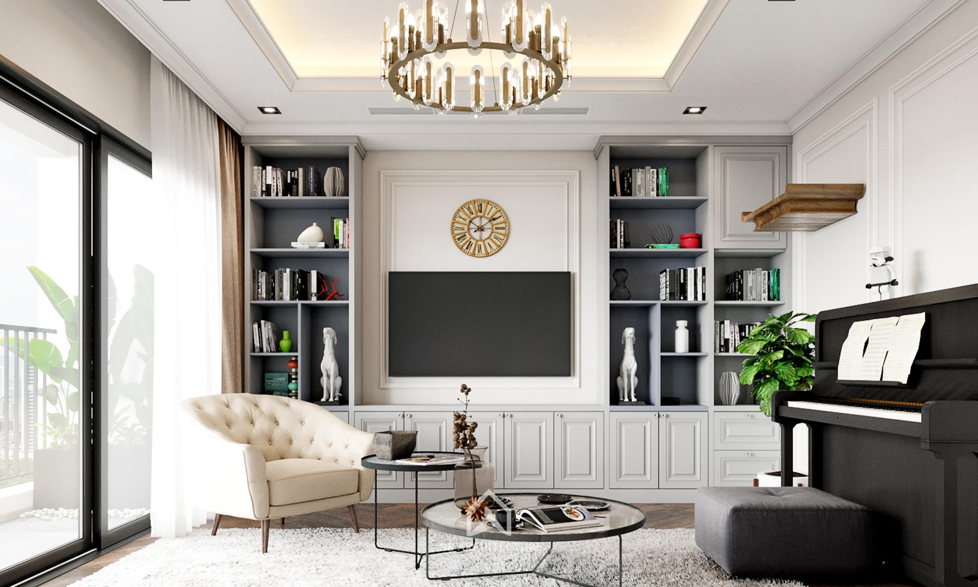 thiết kế nội thất chung cư kosmo 3