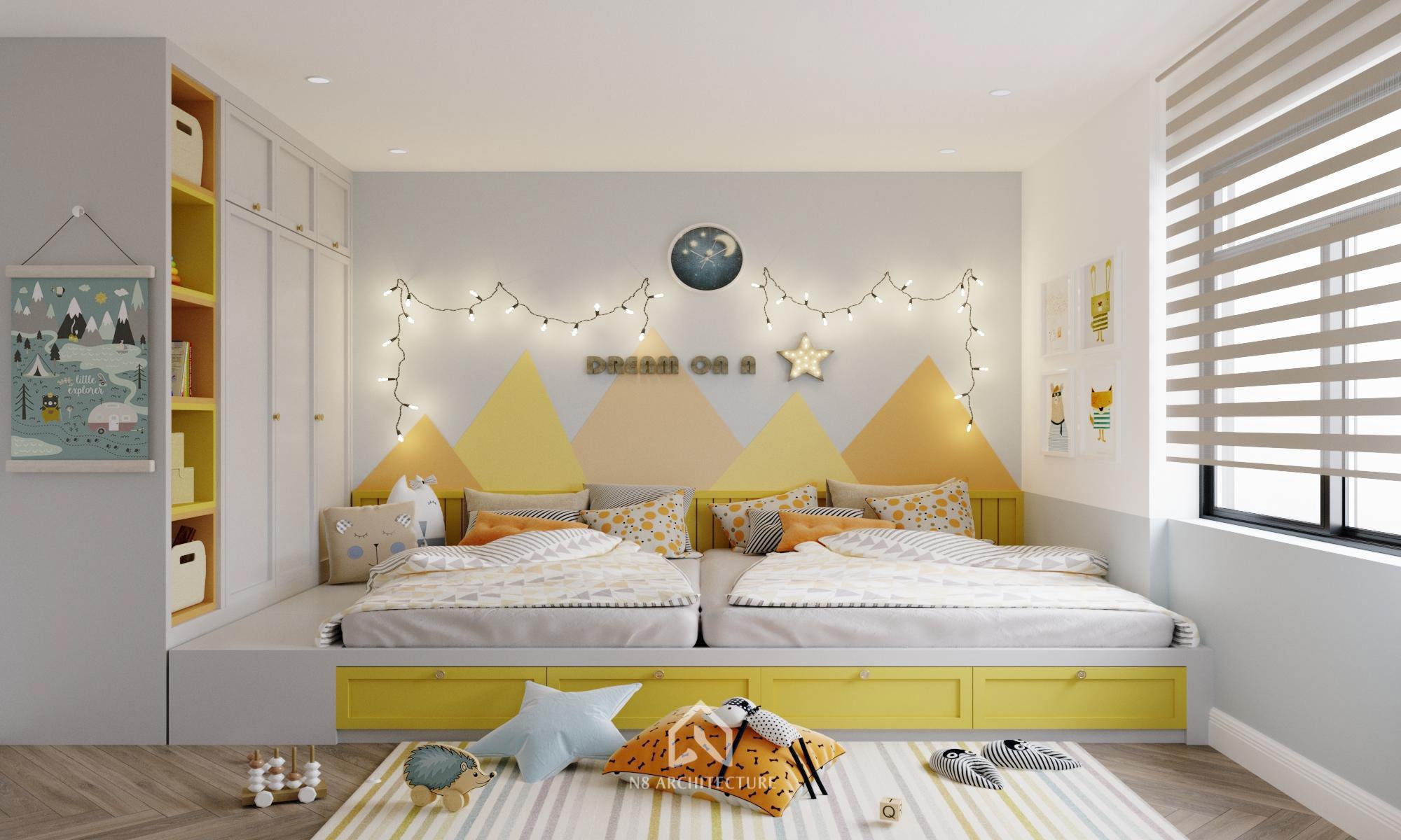 thiết kế nội thất chung cư kosmo 12