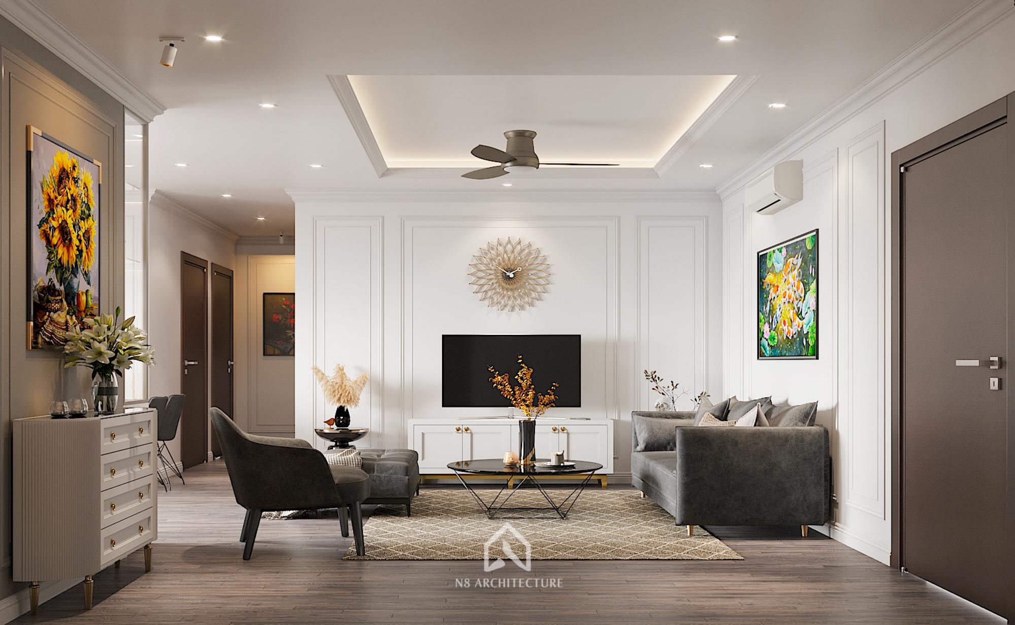 thiết kế nội thất chung cư hong kong tower