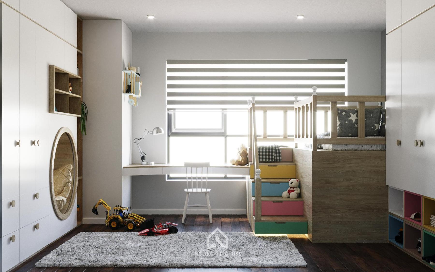 thiết kế nội thất phòng ngủ time city 4
