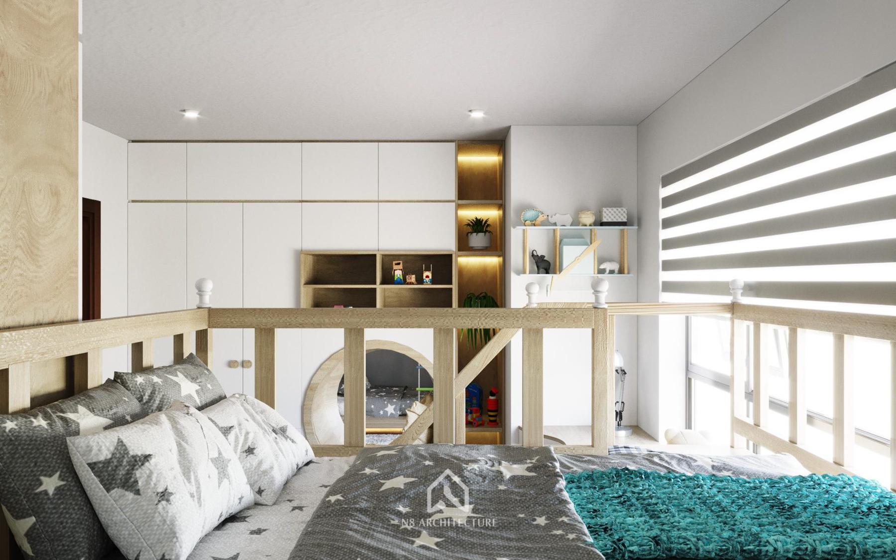 thiết kế nội thất phòng ngủ time city 5