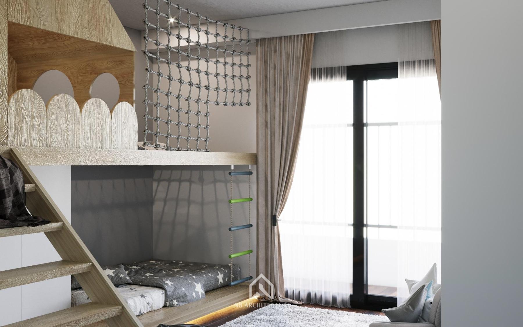 thiết kế nội thất phòng ngủ time city 7