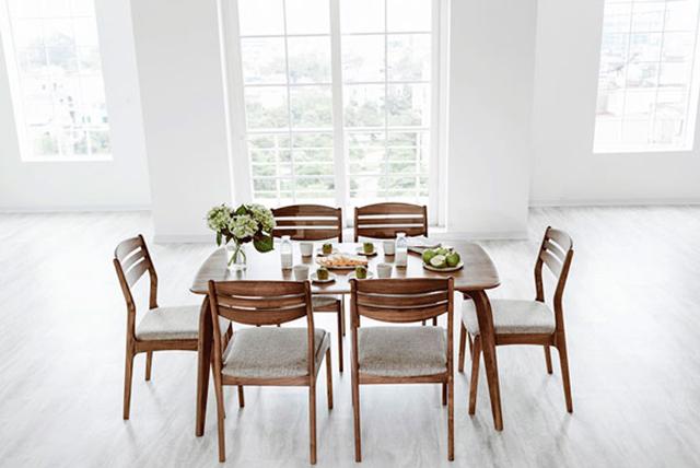 bàn ăn chung cư 6 ghế ngồi đẹp