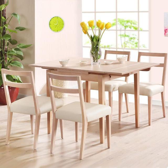 bàn ăn chung cư bằng gỗ sồi mẫu 2