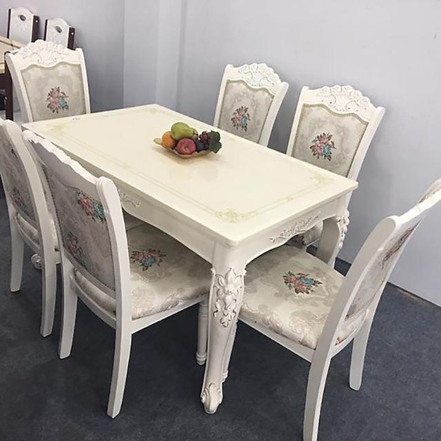 bàn ăn chung cư mặt đá mẫu 4