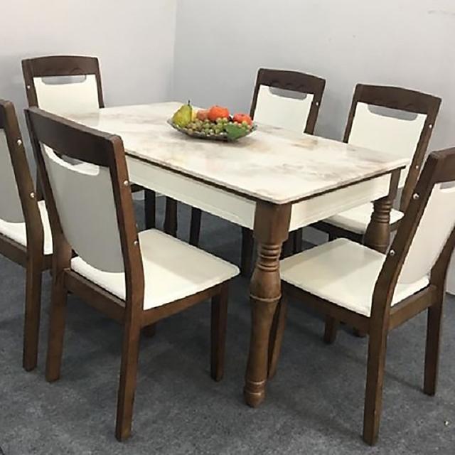 bàn ăn chung cư mặt đá mẫu 5