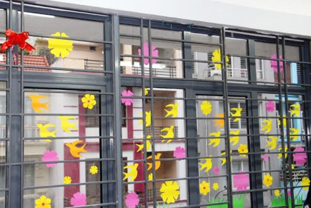 Cách trang trí cửa sổ mẫu 5