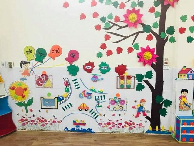 Cách trang trí tường lớp học mẫu 4