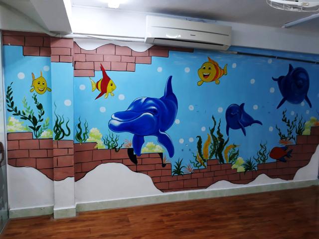 Cách trang trí tường lớp học mẫu 5