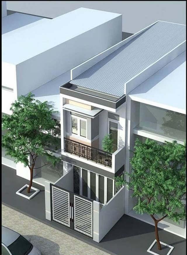 nhà cấp 4 mái tôn tầng