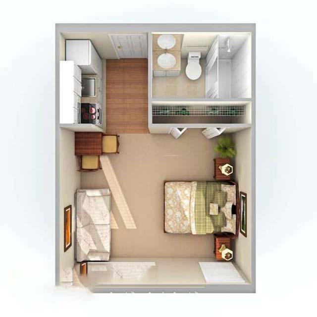 Thiết kế nhà diện tích nhỏ 20m2