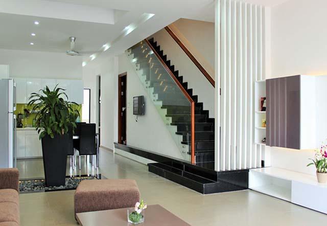 cầu thang nhà ống 4m thiết kế dọc mẫu 3