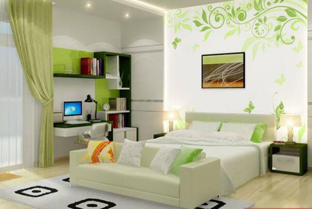giấy dán tường màu xanh dịu nhẹ 3