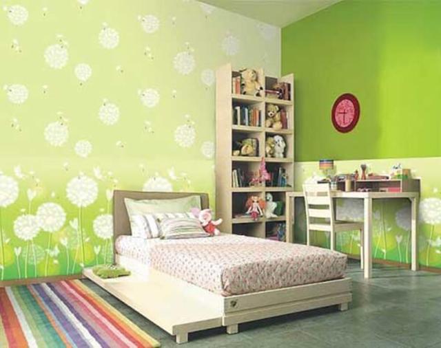 giấy dán tường màu xanh dịu nhẹ 4