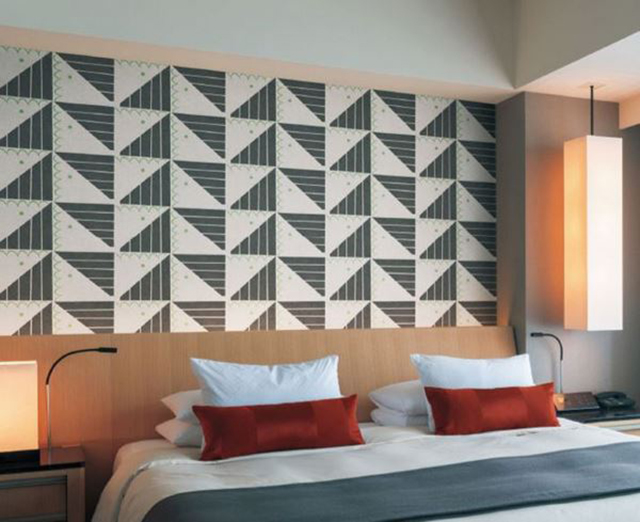 giấy dán tường phòng ngủ phong cách hiện đại 1