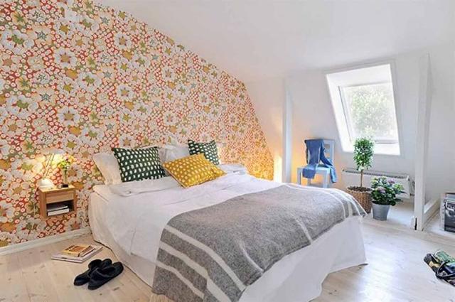 giấy dán tường phòng ngủ phong cách hiện đại 4