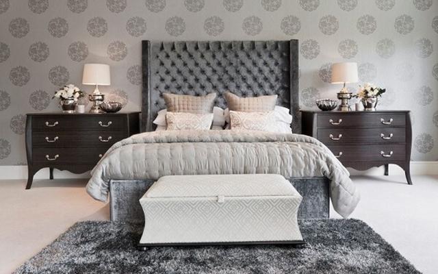 giấy dán tường phòng ngủ phong cách tân cổ điển 1