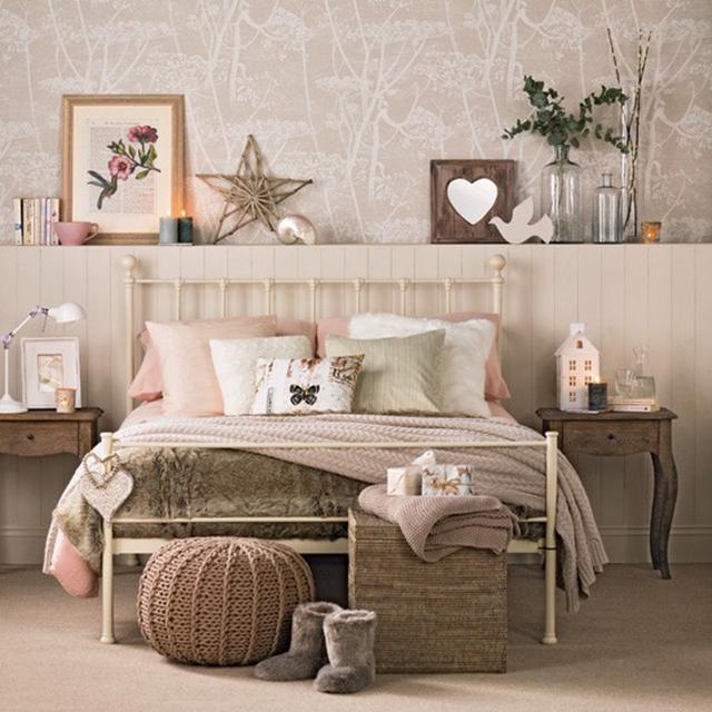 giấy dán tường phòng ngủ phong cách vintage 2