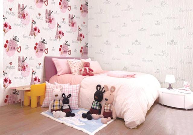 giấy dán tường ph òng ngủ trẻ em 4