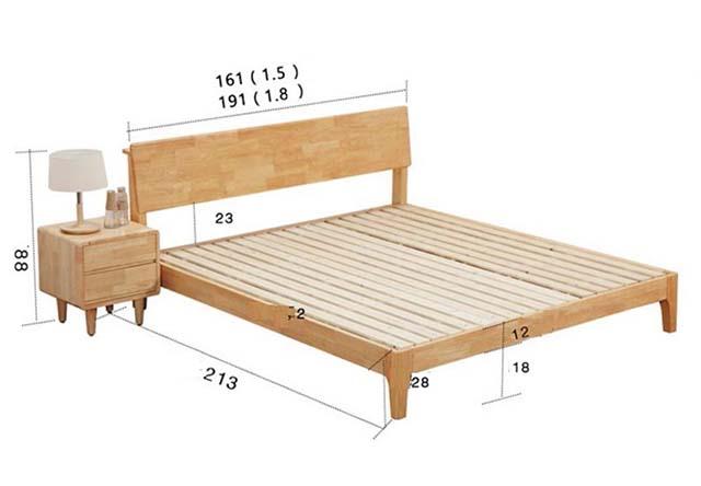 Kích thước giường ngủ tiêu chuẩn