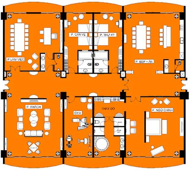 Kích thước giường ngủ phòng PRESIDENT