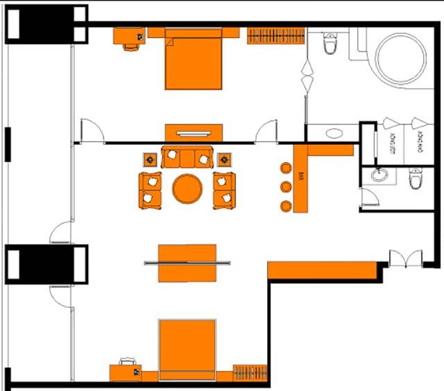 Kích thước giường ngủ phòng Royal