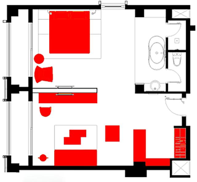 Kích thước phòng suite
