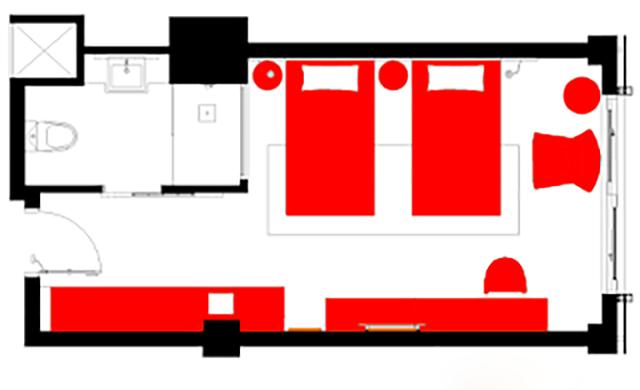 Kích thước phòng twin