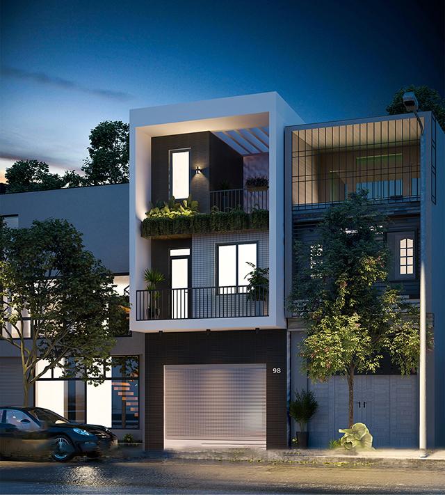 Mẫu thiết kế nhà đẹp hiện đại tối giản chi tiết 2