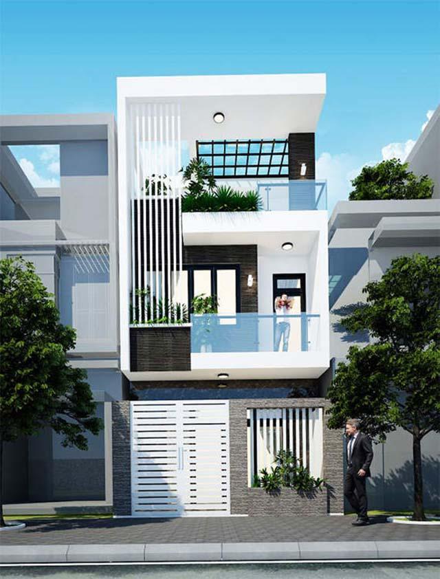 Mẫu thiết kế nhà đẹp hiện đại tối giản chi tiết 3