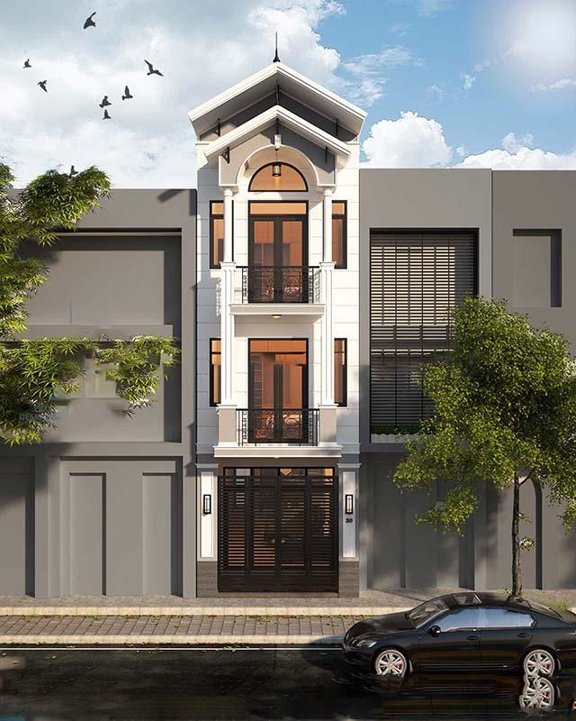 thiết kế nhà ở đơn giản cổ điển 2