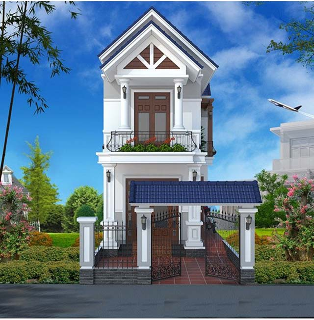 thiết kế nhà ở đơn giản cổ điển 3